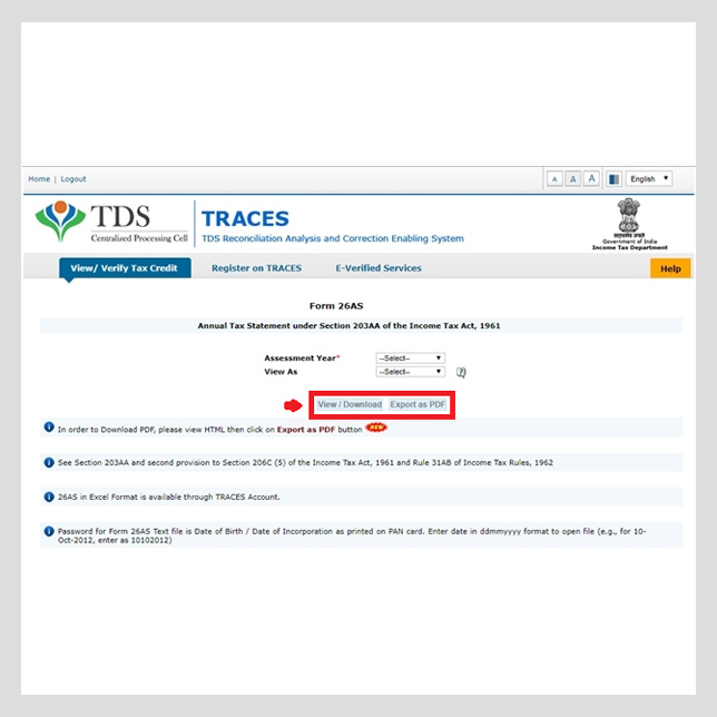 How to Download Your Income Tax Statement