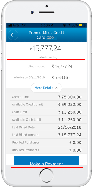 how to check citibank credit card outstanding payment