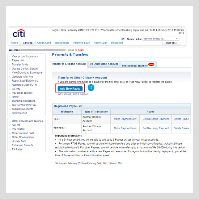 citibank kyc form submission online