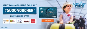 Enjoy upto 14X Rewards* + ₹3000 Cashback* with Citi Rewards Credit Card