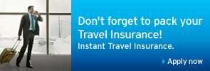 Don't forget to pack your Travel Insurance! Instant Travel Insurance.