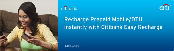 Citibank Prepaid Card Balance >> Prepaid Recharge Citibank India